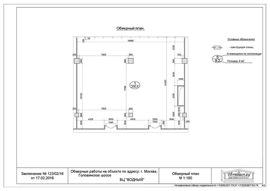 Обмеры офисных помещений коммерческая недвижимость в пушкине Москва